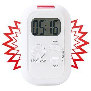 infactory Elektronischer Timer mit Ton-, Licht- und Vibrationsalarm