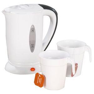 Pearl Reise-Wasserkocher mit 2 Bechern, 110/230 Volt, 650 Watt, 500 ml