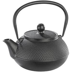 Rosenstein & Söhne Asiatische Teekanne aus Gusseisen, 0,9 Liter, für säurearme Teesorten