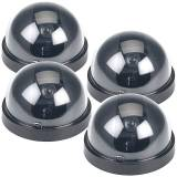 VisorTech 4er-Set Überwachungskamera-Attrappen Dome-Form