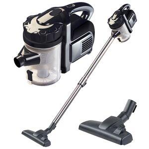Sichler Haushaltsgeräte 2in1-Akku-Zyklon-Staubsauger, Aufsatz-Bürste & Aluminium-Rohr, 25,2 V
