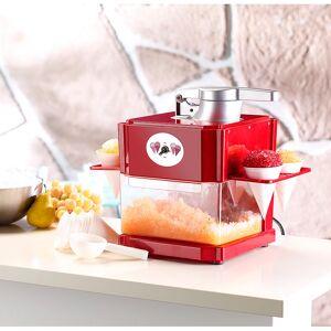 Rosenstein & Söhne Shaved-Ice-Maker mit 4 Kunststoff-Eisbechern, 4 Servierhalter, 90 Watt
