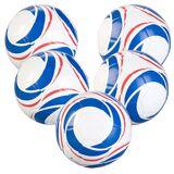 Speeron 5er-Set Trainings-Fußball aus Kunstleder, 22 cm Ø, Größe 5, 440 g