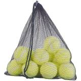 Speeron 12er-Set Tennisbälle für Fortgeschrittene, 65 mm Ø, gelb, Tragenetz