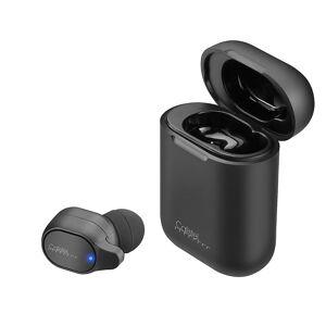 Callstel 2in1-Live-Übersetzer und In-Ear-Mono-Headset mit Powerbank-Box & App