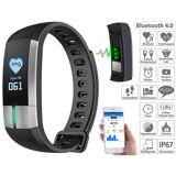 newgen medicals Fitness-Armband mit Blutdruck-, Herzfrequenz- und EKG-Anzeige, IP67