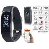 newgen medicals GPS-Fitness-Armband mit XL-Touch-Display, 14 Sportarten, IP68