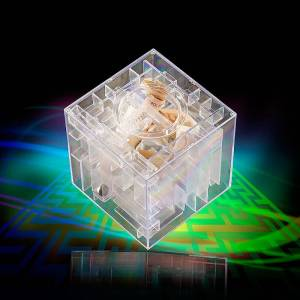 infactory Spardose mit 3D-Kugel-Labyrinth
