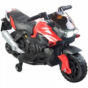 Playtastic Kinder-Elektromotorrad mit MP3-Funktion, Sounds & Stützrädern, 3 km/h