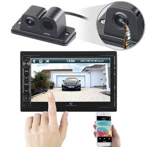 Creasono 2-DIN-MP3-Autoradio mit Touchdisplay und Farb-Rückfahrkamera