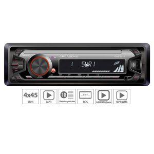 Creasono MP3-RDS-Autoradio CAS-2250 mit USB-Port & SD-Slot, 4x 45 W