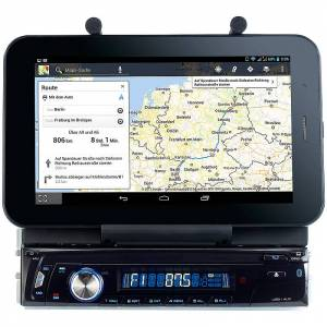 "Creasono Autoradio CAS-4500tab mit Bluetooth & Tablet-Halterung bis 17,8cm / 7"""