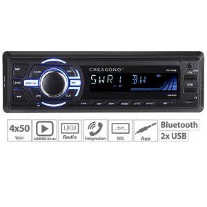 Creasono MP3-Autoradio mit Bluetooth, Freisprechfunktion, RDS, USB, SD, 4x 50 W