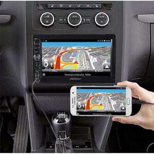 Creasono 2-DIN-DAB+/FM-Autoradio, Touchdisplay, Bluetooth, Freisprecher, 4x45 W