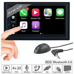 Creasono 2-DIN-Autoradio mit Freisprechfunktion, Apple CarPlay, 17,1-cm-Display