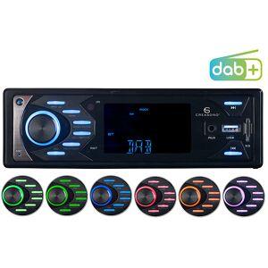 Creasono MP3-Autoradio mit DAB+, Bluetooth & Freisprech-Funktion, 4x 45 Watt