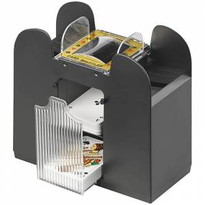 Grand Straight Royale Elektrische Kartenmisch-Maschine für 6 Decks á 54 Karten, schwarz