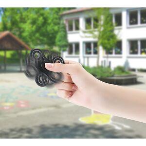 Hand-Spinner Finger-Spinner 3-seitig mit Edelstahl-Kugellager schwarz