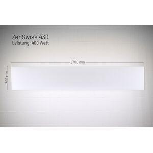 ZenSwiss Niedrigenergie-Infrarotheizung 400W / 30 cm x 170 cm (Matt Weiss)
