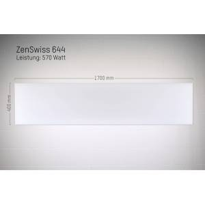 ZenSwiss Niedrigenergie-Infrarotheizung 570W / 40 cm x 170 cm (Matt Weiss)