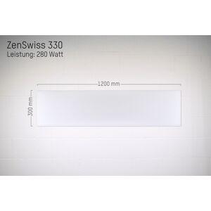 ZenSwiss Deluxe Infrarotheizung 280W / 30 cm x 120 cm (Matt Weiss)