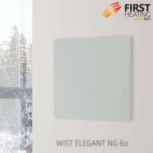 FIRST Heating WIST Elegant NG Infrarotheizung 500 W / 60 cm x 60 cm (Matt Weiss)