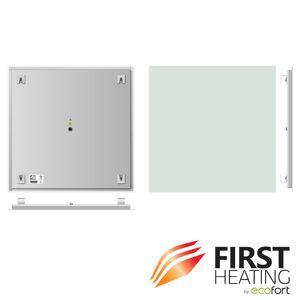FIRST Heating Elegant Basic Infrarotheizung 500 W / 60 cm x 60 cm (Matt Weiss)