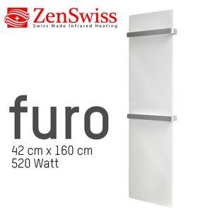 ZenSwiss furo Handtuchtrockner 42 x 160 cm (Glanz Weiss)