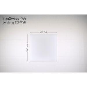 ZenSwiss Deluxe Infrarotheizung 260W / 54 cm x 54 cm (Matt Weiss)