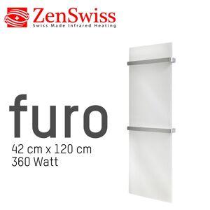 ZenSwiss furo Handtuchtrockner 42 x 120 cm (Glanz Weiss)