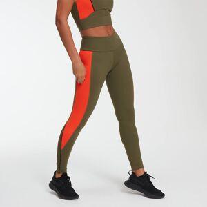 Myprotein Power Leggings - Avocado/Orange - XS