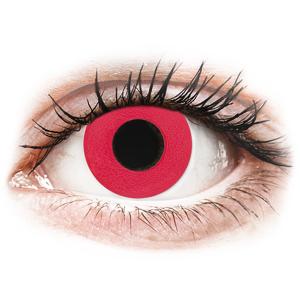 CRAZY LENS - Solid Red - Tageslinsen ohne Stärke