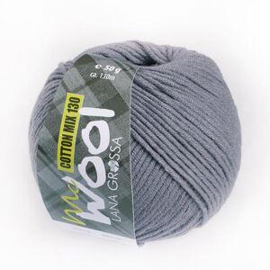Lana Grossa McWool Cotton Mix 130 uni von Lana Grossa, Dunkelgrau