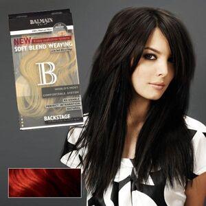 Balmain Soft Blend Weaving Extensions 40 cm Aubergine/Red