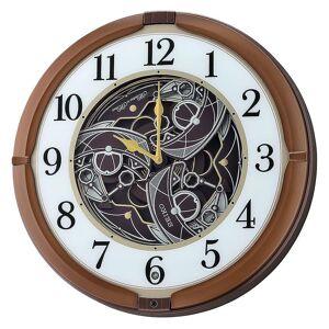 Seiko Melodies in Motion Wall Clock-Metallic Brown (QXM380B)