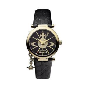 Vivienne Westwood Uhren Vivienne Westwood Vv006bkgd Orb Ii Gold & schwarz Leder Damenuhr