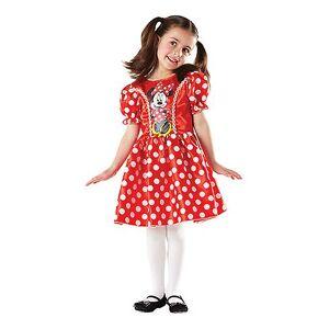 Rubies Red Minnie Mouse Kostüm für Kinder Disney Minni Kleid rot L