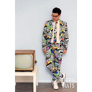opposuits Testival test pattern vestito macchiato premium 3-piece taglie slim...