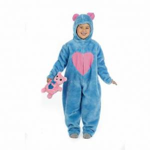 Limit Costume de teddy boy Happy ours en peluche bleu enfant costume chance