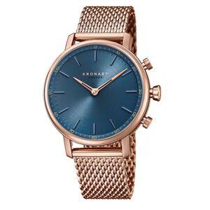 Kronaby S0668-1 Frauen's Karat Hybrid Smartwatch mit blauem Zifferblatt Saphir/Edelstahl/Roségold