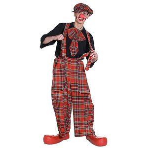 Rubies Costume de Clownkostüm pantalon clochard Clownhose Plaid salopette ...
