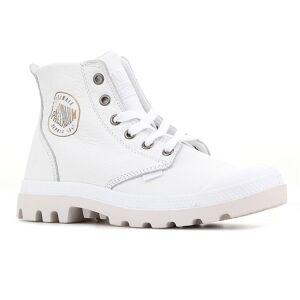 Palladium Pampa HI Leder 72355100M universal Winter Damen Schuhe weiß 4 UK / 6 US / 37 EUR / 24 cm