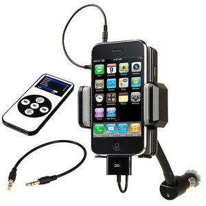TRIXES FM-Transmitter-Kfz-Einbausatz mit Ladegerät für Apple iPhone 3G 3GS iPod