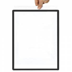 Rahmen mit Klarsichtfolie Papierformat A4, VE 10 Stk magnetisch, schwarz