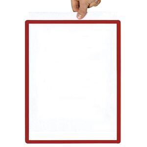 Rahmen mit Klarsichtfolie Papierformat A4, VE 10 Stk magnetisch, rot