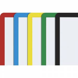 Rahmen mit Klarsichtfolie Papierformat A4, VE 10 Stk selbstklebend, farbig sortiert