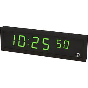 LED-Digitaluhr HxBxT 118 x 423 x 39 mm schwarz, grüne LED
