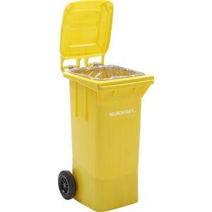 EUROKRAFT Großmülltonne aus Kunststoff, nach DIN EN 840 Volumen 120 l, BxHxT 505 x 1005 x 555 mm gelb, ab 5 Stk