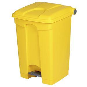 Kunststoff-Tretabfallsammler Volumen 45 l, BxHxT 410 x 600 x 400 mm gelb