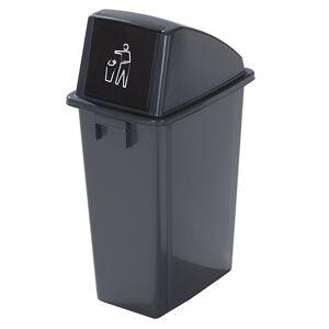 Kunststoff-Wertstoffsammler Volumen 60 l Einwurfklappe selbstschließend